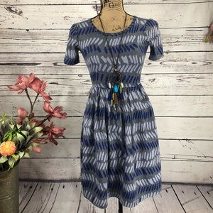 LuLaRoe Amelia Abstract Printed Dress